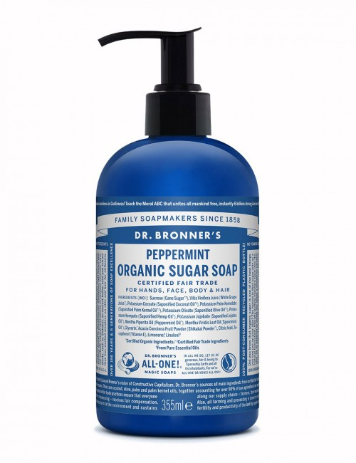 sapone biologico naturale Dr Bronner peppermint 355ml