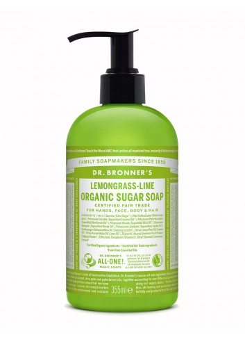 Dr Bronner organic sugar soap lemongrass lime 355ml