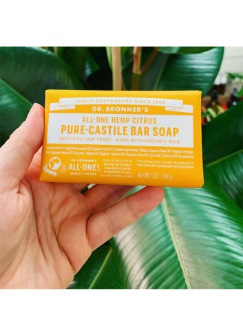 Dr Bronner vegan soap bar citrus-orange