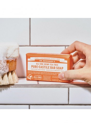 Dr Bronner organic vegan soap bar tea tree