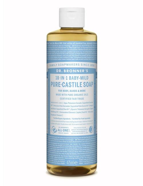 Dr Bronners 18in1 organic liquid soap baby mild
