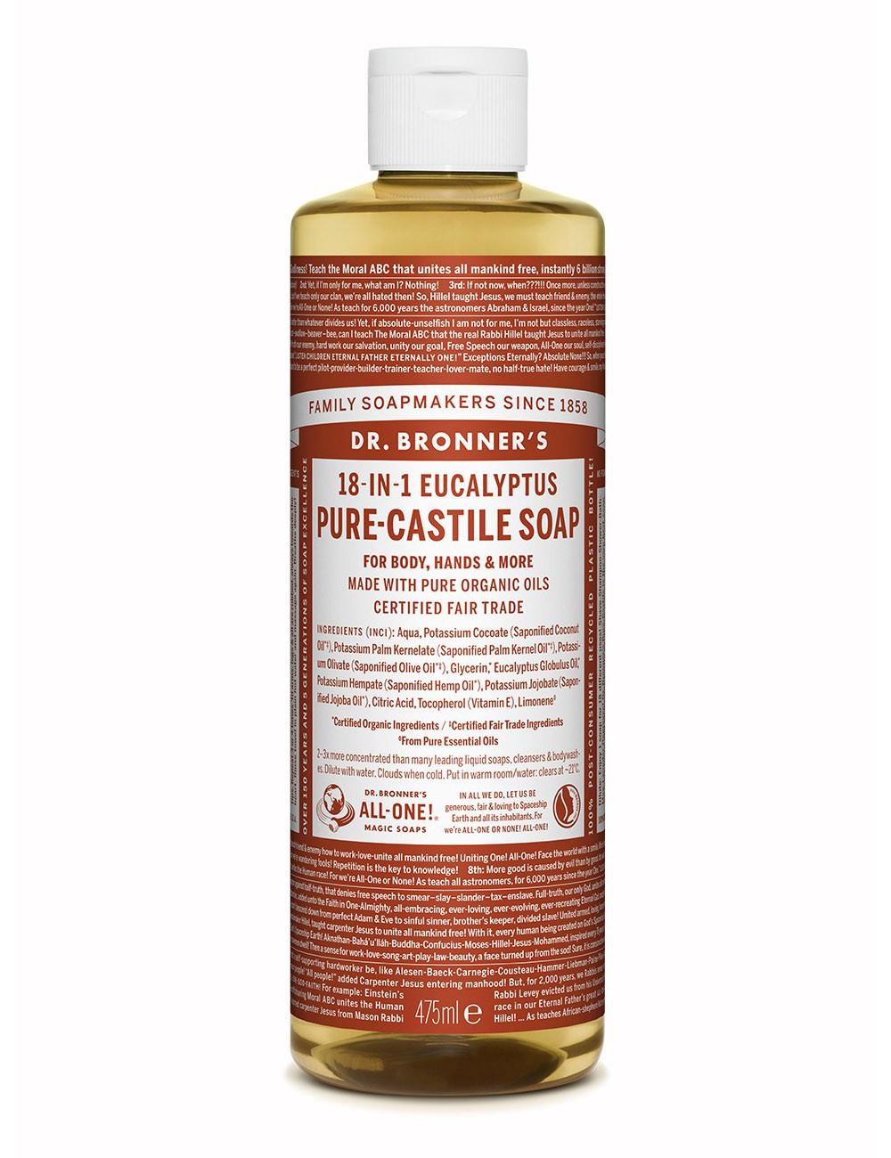 Dr Bronners 18in1 sapone liquido bio eucalyptus