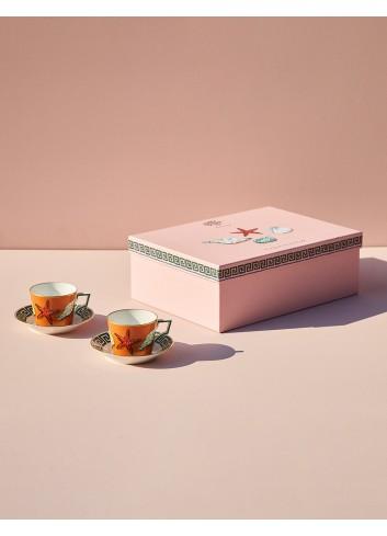 Richard Ginori viaggio nettuno set di due tazze e piattini tè