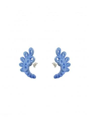 Orecchini Novelty, wool blue