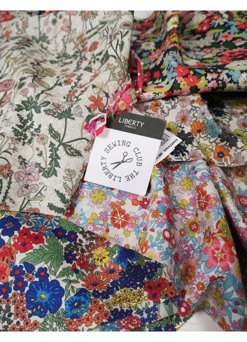 Liberty London fabrics for tailored reusable masks by paolin