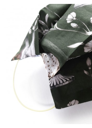 mascherina covid in tessuto regolabile