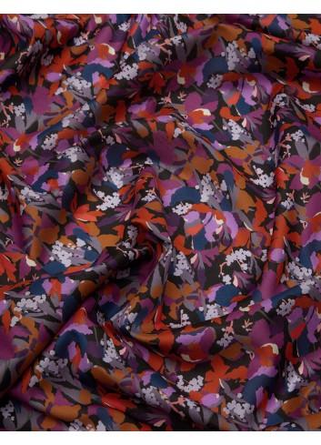 tessuto Camo Flower Tana Lawn Cotton