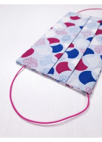 mascherine in tessuto con elastici regolabili