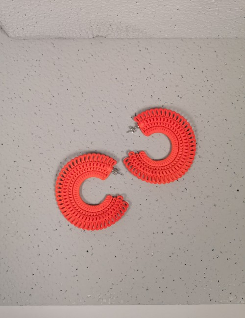 Loop Earrings, Orange