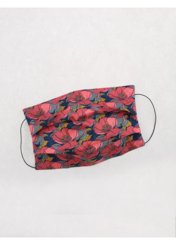 Strawberry Meadow  liberty london fabric face covering reusable
