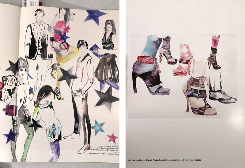 Paolin jewellery Vogue Italia Fashion Tale 2008 illustrations