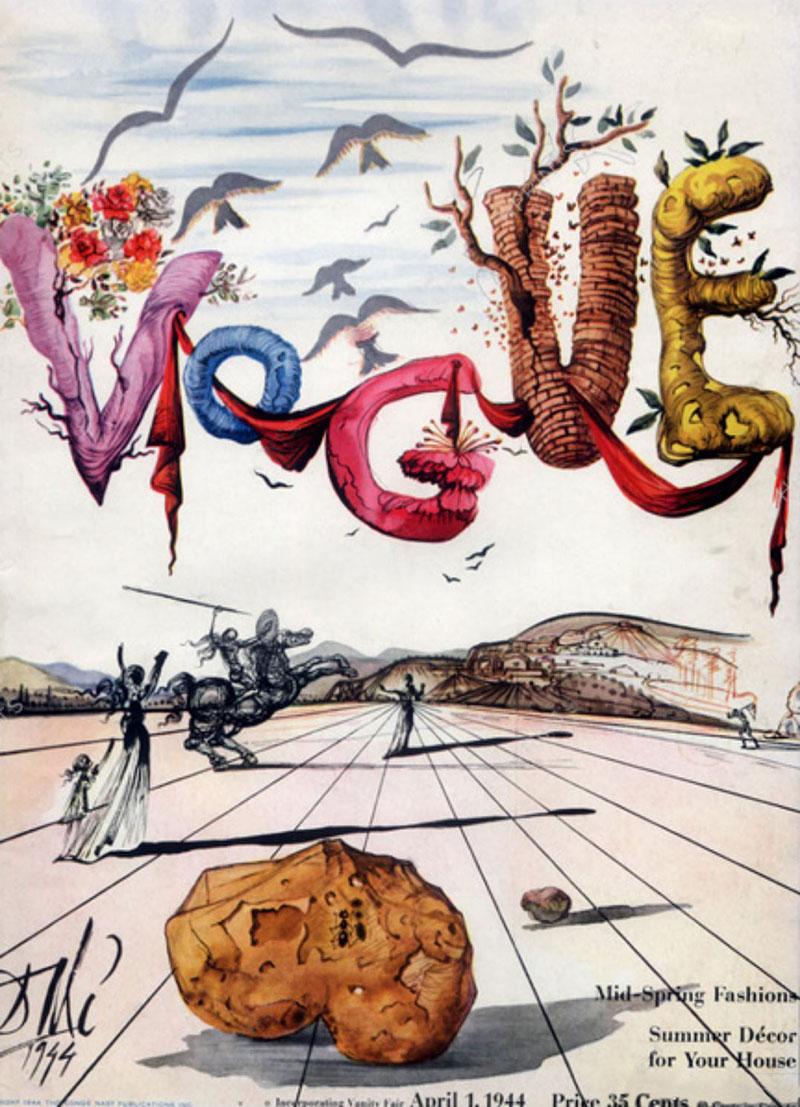 Vogue 1944 cover by Salvador Dalì