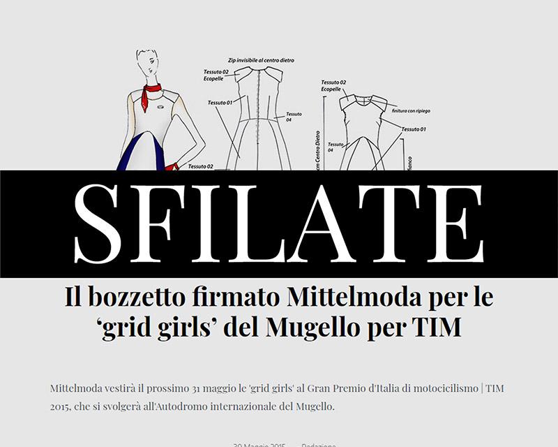 Francesca Paolin fashion designer Sfilate Mittelmoda outfit grid-girls hostesses TIM motogp Italy
