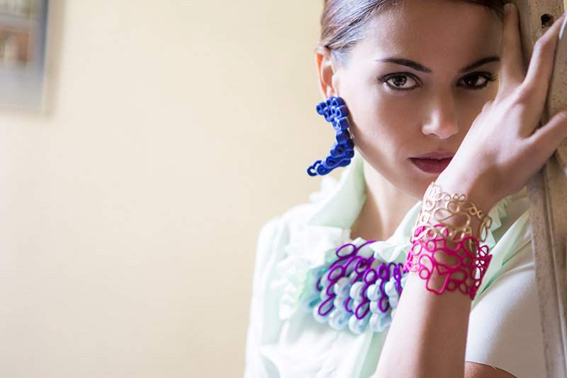 Paolin 3D printed jewellery at Macao sarpi bridge oriental design week Milan