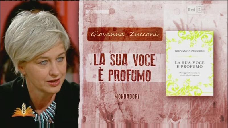 Italian writer Giovanna Zucconi on national Italian TV channel Rai 3 with Paolin fashion jewellery bijoux 1