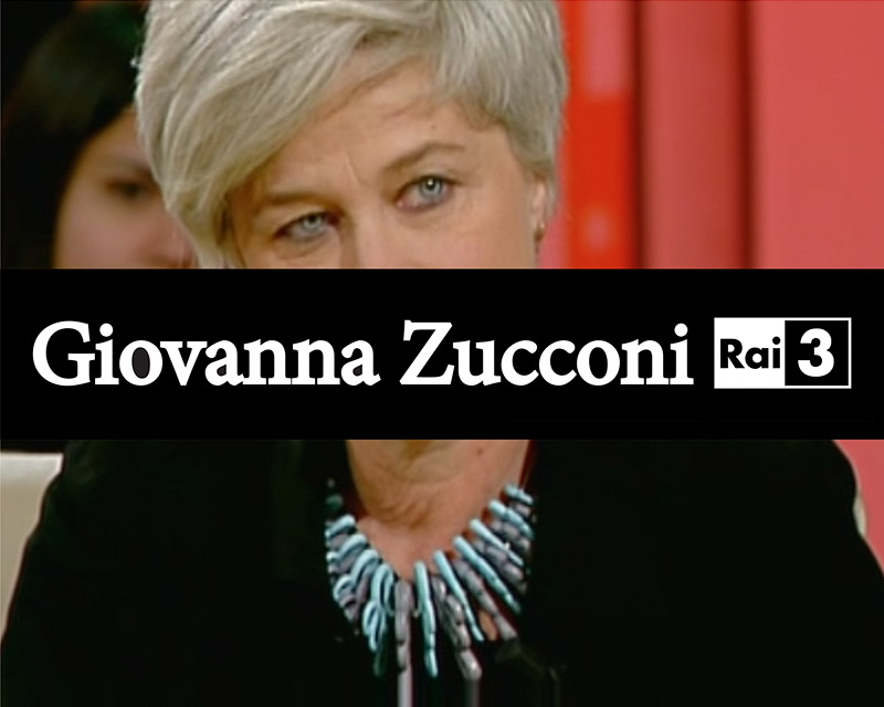 writer Giovanna Zucconi national Italian TV channel Rai 3 with Paolin necklace 3D