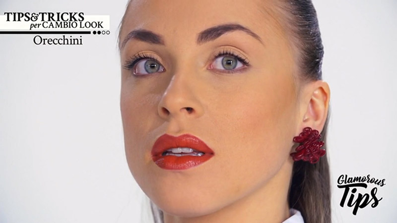 Paolin fashion earrings 3D printed on mediaset play channel glamorous tips by Silvia Giacomassi
