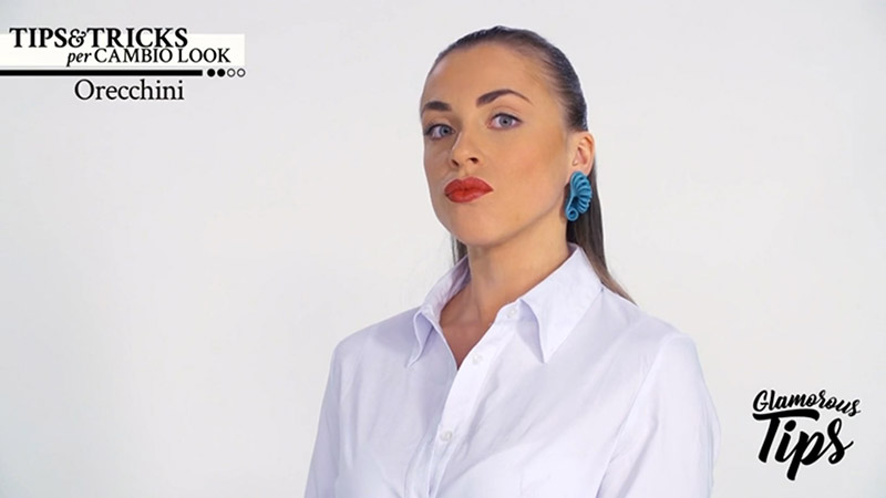 Paolin fashion earrings on mediaset play channel glamorous tips by Silvia Giacomassi