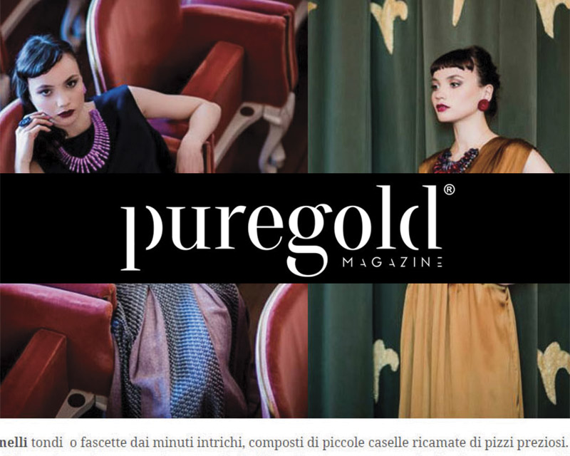 pure gold fashion magazine about paolin 3D printed jewellery bijoux