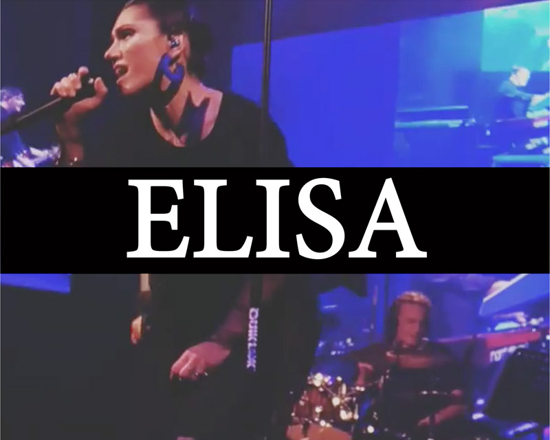 elisa italian singer performing in Milan with Paolin earrings