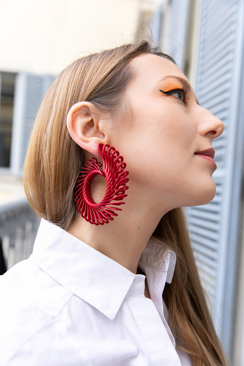 Gemologue by Liza Urla photo GEM Kreatives circle feather earrings Paolin
