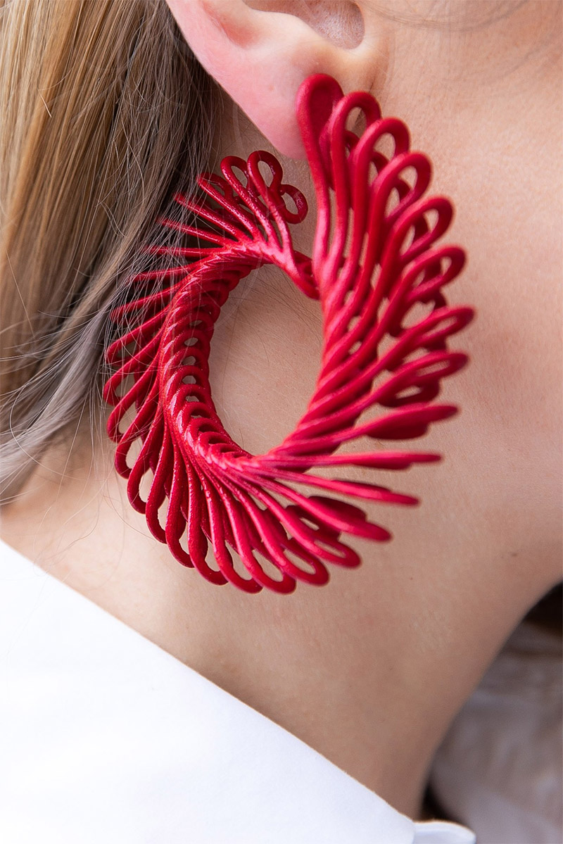 Gemologue by Liza Urla photo GEM Kreatives circle feather earrings by Paolin