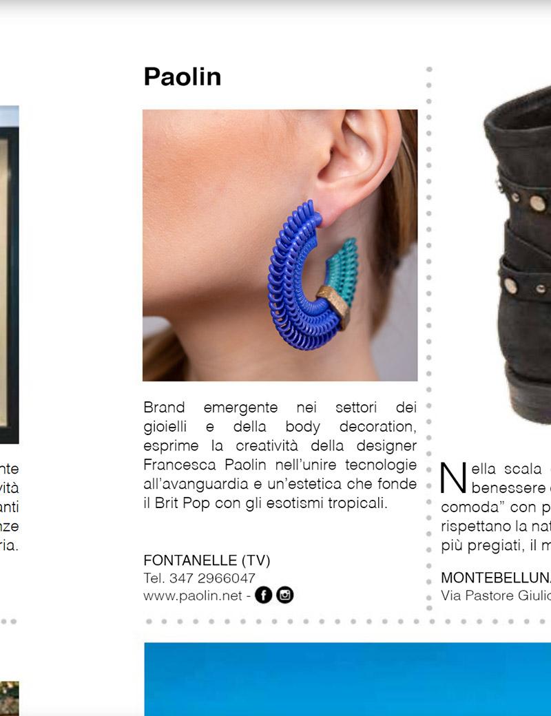 GRAZIA online bijoux moda Paolin coloratissimi e stampati 3D