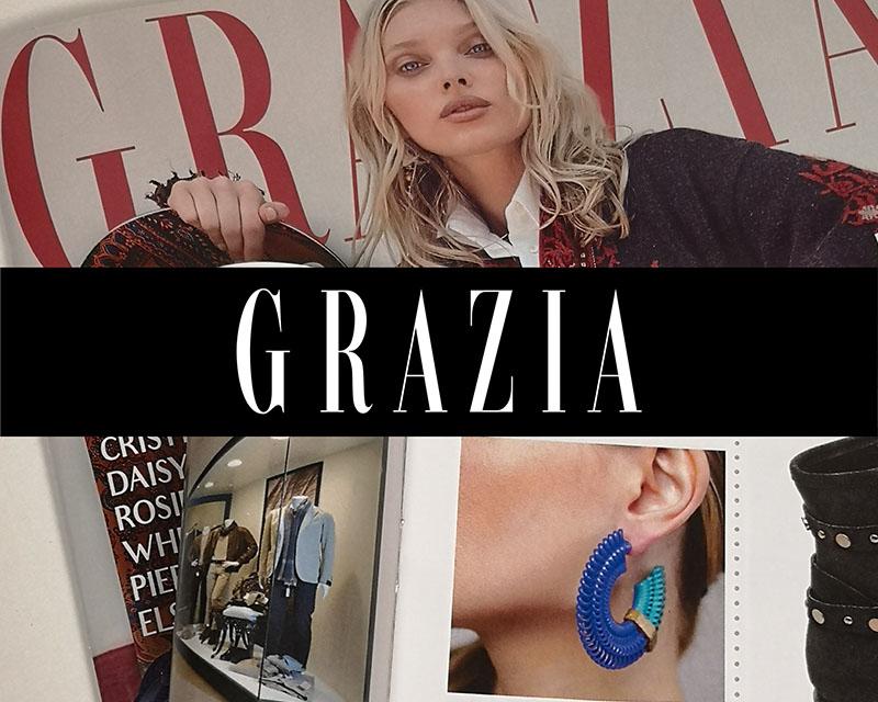 Grazia mensile moda e life style pubblica i coloratissimi gioielli moda Paolin