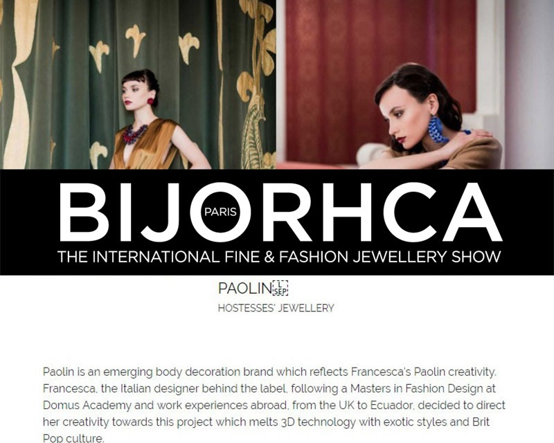 BIJORHCA HOSTESSES' JEWELLERY, September 2018