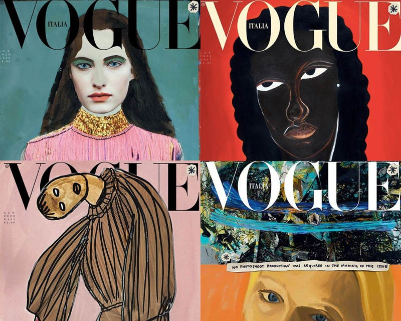 Vogue Italia and the artistic illustrations